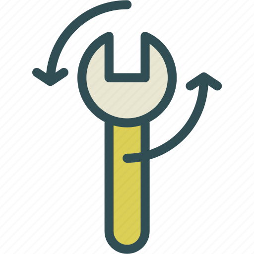 key, mechanic, rotate, tool icon