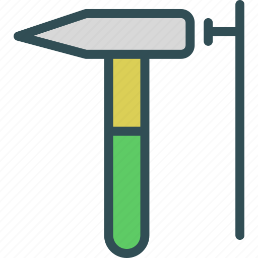 hammer, instruments, manualnailing, nails, tool, work icon