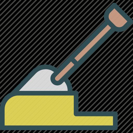 earth, manual, tool, toolspade, work icon