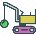 car, construction, destroyer, transport, truck icon