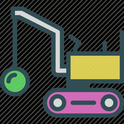 car, construction, destroyer, transport, truck icon