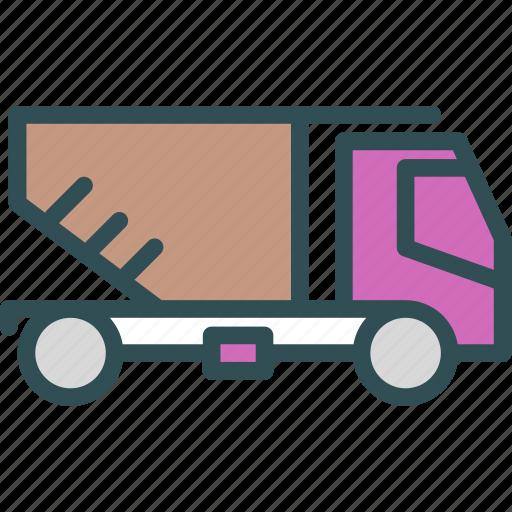 build, car, empty, heavy, materials, transport, truck icon