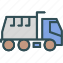 car, mud, transport, truck icon