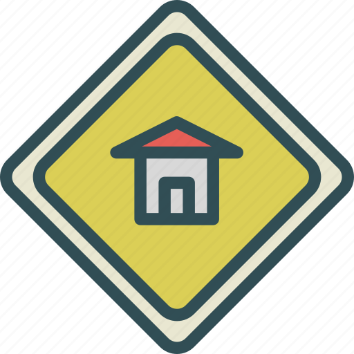 attention, home, sign, warning icon