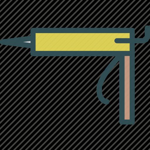 contruction, foam, man, manual, pistol, worker icon