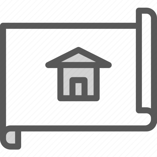 building, home, house, measure, plan, project icon