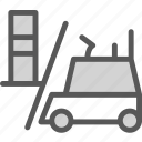 building, er, heavy, lift, materials, transport, truck icon