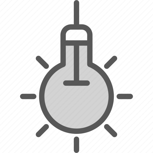 electric, light, lightbulb icon