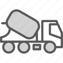 car, ciment, concrete, foundation, transport, truck icon