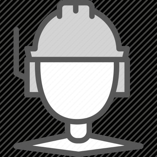 coordinator, helmet, man, site, worker icon