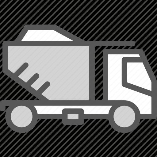 car, concrete, full, materials, rocks, transport, truck icon