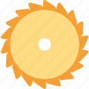 cut, disk, divide, tools icon
