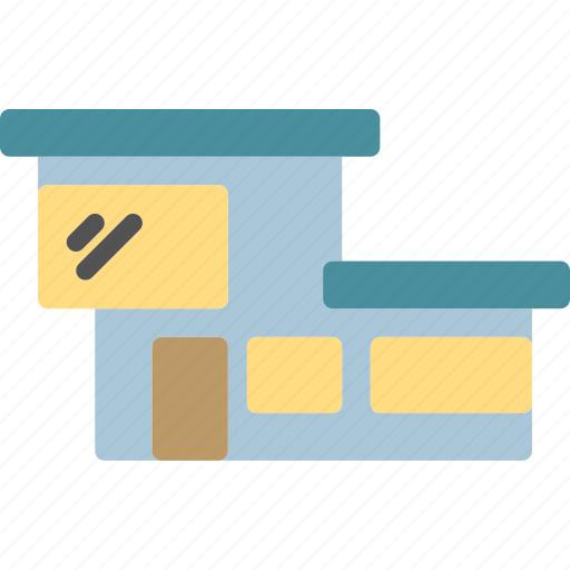building, cube, home, house, modern, square icon