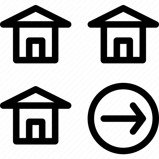 building, home, house, right icon