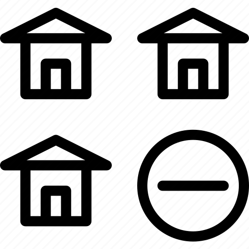 building, home, house, sremove icon
