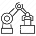 building, construction, industry, robot icon