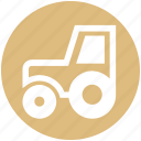 construction, farm tractor, farm vehicle, tractor, transport, vehicle icon