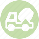 cement truck, concrete, concrete truck, construction, truck, vehicle icon