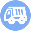 construction, heavy machine, heavy vehicle, loading, transport, truck icon