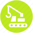 concrete bulldozer, construction, construction crane, crane, lifter, vehicle icon