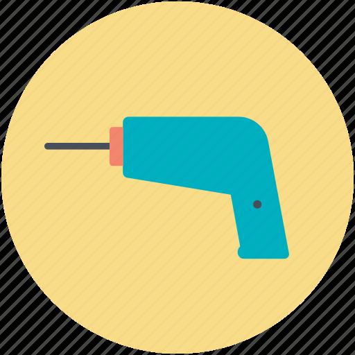 construction tool, dig machine, drill, drill machine, drilling machine icon