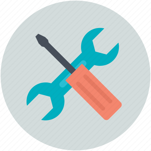 hardware, mechanic, repair tools, screwdriver, wrench icon
