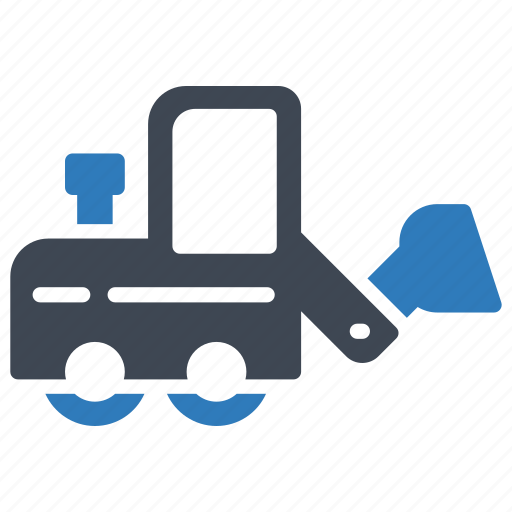 bulldozer, excavator, loader icon