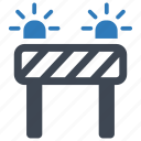 barrier, resticted, under construction icon