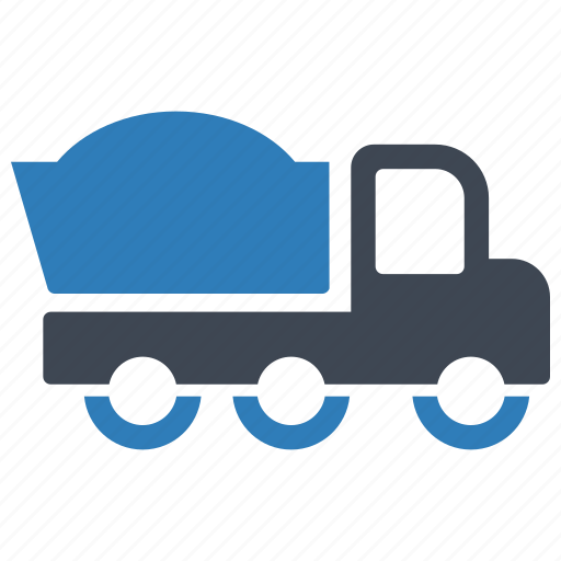 construction, dump truck, vehicle icon