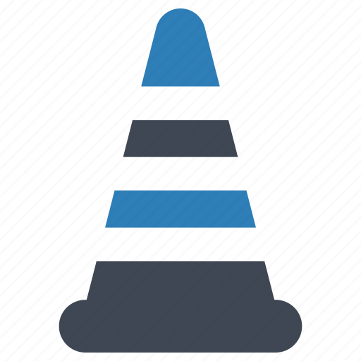cone, emergency, under construction icon