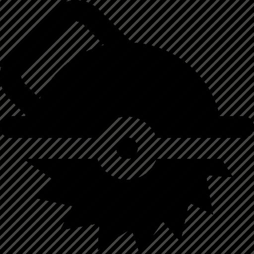 circular, saw icon