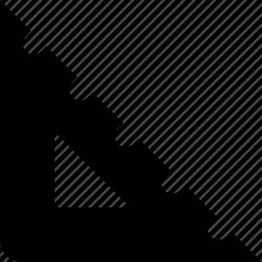 measure, triangle icon