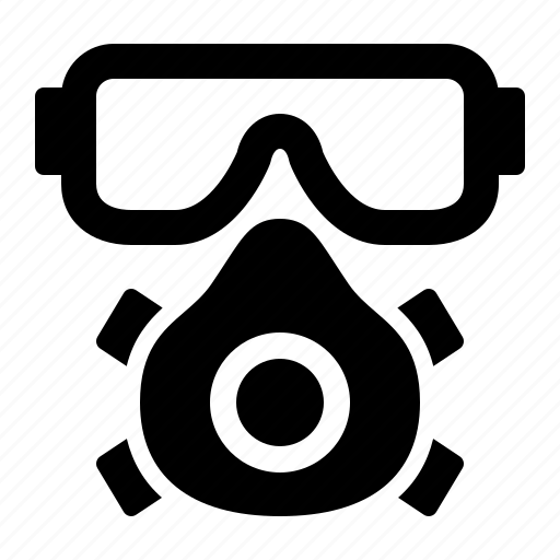 chemical, gas mask, goggles, mask, protection, safety, watchkit icon