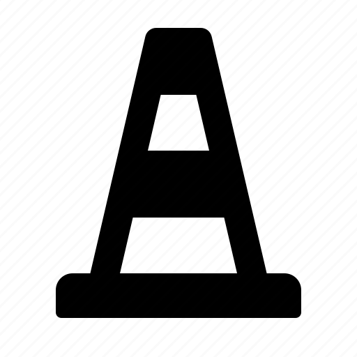 cone, construction, cordon, road cone, road works, safety, watchkit icon