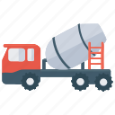 cement mixer, cement plant, concrete mixer, construction machine, mixing machine icon