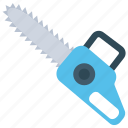 carpenting gadget, chainsaw, cutting tool, electric chainsaw, forestry tool icon