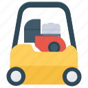 construction vehicle, excavator, hydraulic excavator, maintenance vehicle, mini excavator icon