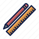 construction, pen, ruler, tool icon