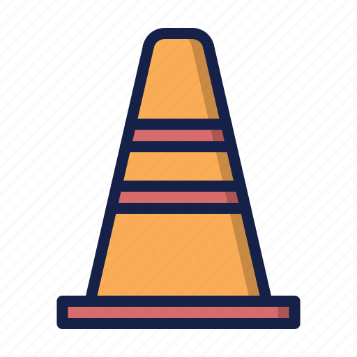 attention, cone, construction, under construction icon