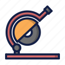 construction, saw, saw machine icon