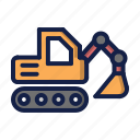 construction, excavator, loader icon