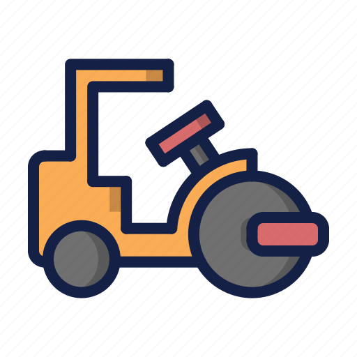 building, construction, roller icon