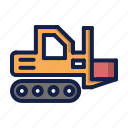 construction, forklift icon