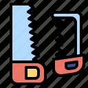 construction, cutting, handsaw, improvement, repair, saw, tools