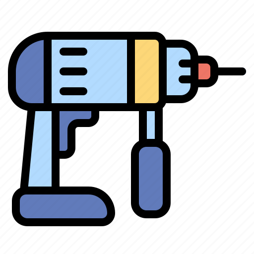 Constrction, drill, driller, drilling, machine, repair, tools icon - Download on Iconfinder