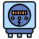 and, construction, electric, electricity, meter, tools icon