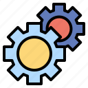 configuration, gears, setting, three, wheel icon