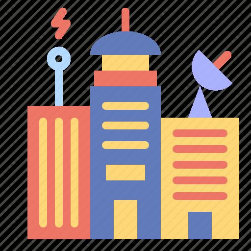 architecture, building, city, construction, skyline icon