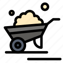 barrow, garden, trolley, truck, wheelbarrow icon