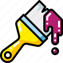 brush, color, drawing, paint, paintbrush, tool icon